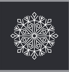 snowflake crystal on black vector image