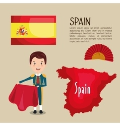 Spanish culture icons isolated icon design vector image