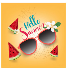 Summer sale text and beach holidays elements vector