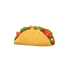 taco fast food icon menu snack mexican cuisine vector image
