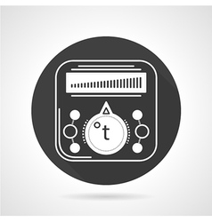 Thermoregulator black round icon vector image