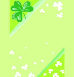 three leaf clover background vector image