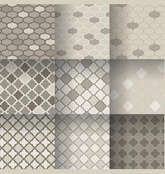 Traditional quatrefoil lattice seamless patterns vector