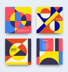 trendy abstract geometry covers collection vector image