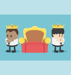 two business people are angry to separate chair vector image