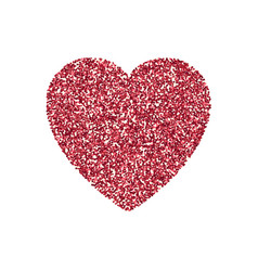 Valentines day heart isolated background vector