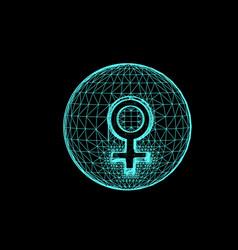 Venus planet responsible in astrology vector