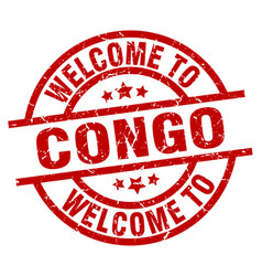 Welcome to congo red stamp vector
