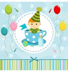 baby boy in cup vector image