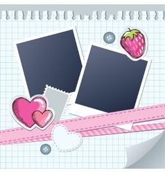 cute frame for photos vector image vector image