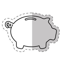 piggy money banking icon vector image