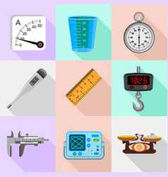 scales icons set flat style vector image