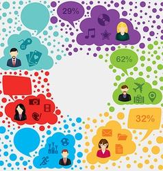 Social media forum infographic vector image