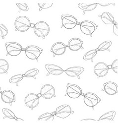 stylish seamless pattern with hand drawn vector image vector image