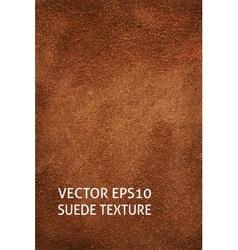 Brown suede vertical background vector image vector image