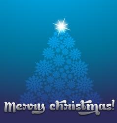 Christmas greeting design vector image
