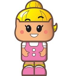Cute Girl Avatar vector image