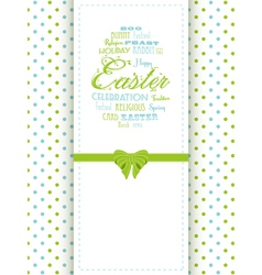 Easter background panel vector image vector image