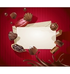 Frame for the title with a pattern of chocolates vector