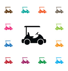 isolated golf cart icon sport element can vector image vector image