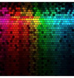Multicolor Rainbow Abstract Lights Disco Digital vector image vector image