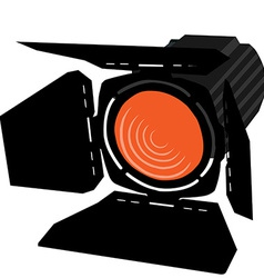 Orange spotlight vector image