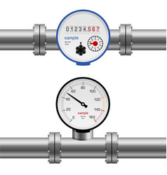 water pipe pressure meter vector image vector image
