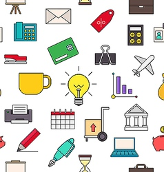 Business colorful pattern icons vector image vector image