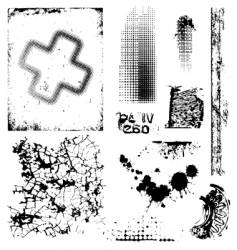 grungy textures vector image vector image