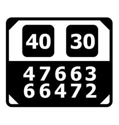 match score board icon simple black style vector image vector image