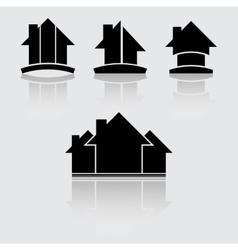 Real estate black vector image