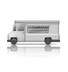 realistic food truck isolated on white fast food vector image vector image