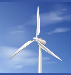 single wind turbine vector image vector image