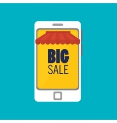 social media big sale smartphone isolated icon vector image
