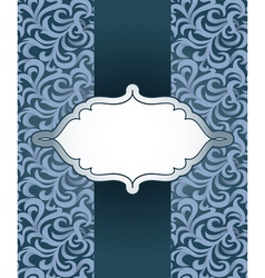 vintage frame with pattern vector image vector image