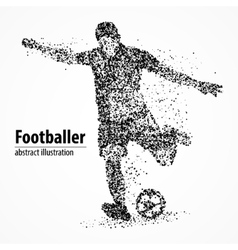 abstraction football athlete vector image vector image