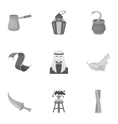 Arab Emirates set icons in monochrome style Big vector image vector image