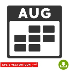 August Calendar Grid Eps Icon vector image
