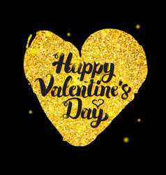 black gold valentine day vector image vector image