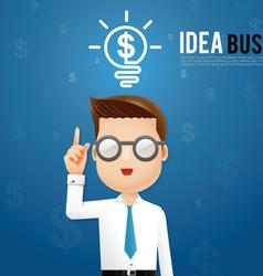 business man idea vector image