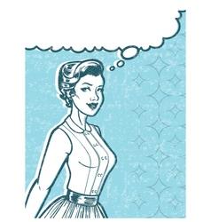 Retro Woman Art vector image vector image