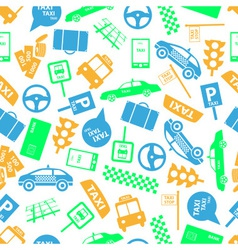 taxi icons color seamless pattern eps10 vector image vector image