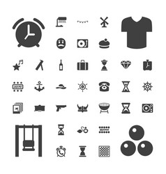 37 vintage icons vector