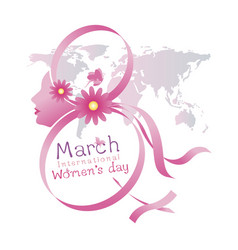 8 march international womens day design vector image