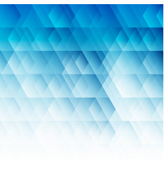 abstract geometric hexagon pattern blue background vector image