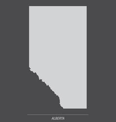 Alberta province map vector