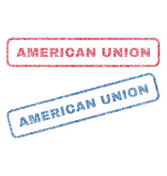 American union textile stamps vector