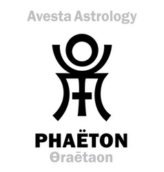 Astrology astral planet phaeton faridon vector