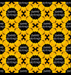 Autumn seamless pattern with leaf vector
