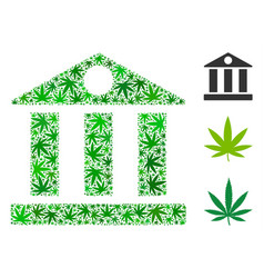 bank building collage of marijuana vector image